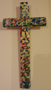 Multi-coloured cross